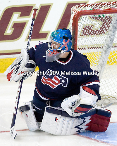 Andy Iles (US - 29) - The Boston College Eagles defeated USA Hockey's National Team Development Program's Under 18 team 6-3 on Friday, October 9, 2009 at Conte Forum in Chestnut Hill, Massachusetts.