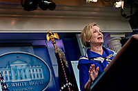 Ambassador Deborah L. Birx, M.D., White House Coronavirus Response Coordinator, speaks during a news conference in the Brady Press Briefing Room of the White House in Washington, D.C., U.S., on Friday, May 22, 2020. United States President Donald J. Trump did not wear a face mask during most of his tour of Ford Motor Co.'s ventilator facility Thursday, defying the automaker's policies and seeking to portray an image of normalcy even as American coronavirus deaths approach 100,000. <br /> Credit: Andrew Harrer / Pool via CNP / MediaPunch