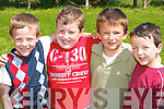 2733-2741.Colm Galvin, Fenit, Conor Roche, Dooks, Cathal Crosby, Dooks, and David Galvin, Feenagh, having fun at the Cromane GAA Funday on Sunday..