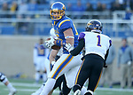 BROOKINGS, SD - DECEMBER 2: Dallas Goedert # 86 from South Dakota State hauls in a pass in front of Elijah Campbell #1 from Northern Iowa during their FCS Division 1 playoff game Saturday afternoon at Dana J. Dykhouse Stadium in Brookings, SD. (Photo by Dave Eggen/Inertia)