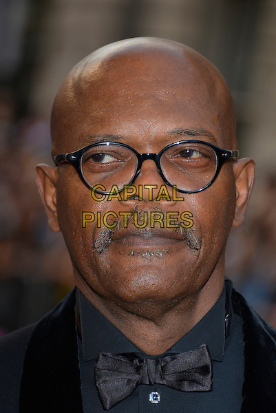 Samuel L. Jackson<br /> GQ Men of the Year Awards 2013 at the Royal Opera House, London, England.<br /> September 3rd, 2013<br /> headshot portrait black blue tuxedo bow tie glasses moustache mustache facial hair  <br /> CAP/PL<br /> &copy;Phil Loftus/Capital Pictures