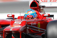 12.05.2012. Circuit de Catalunya, Montmeol, Spain, One the 3rd Practice Session. Picture show  Fernando Alonso (Spanish driver of Ferrari)