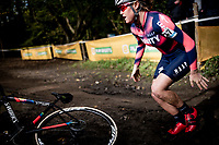 Abby Mae Parkinson (GBR/Trinity Racing) crash<br /> <br /> Womens Race<br /> 42nd Superprestige cyclocross Gavere 2019<br /> <br /> ©kramon