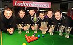 The Celbridge Snooker Club  team that won the Ladbrokes All Ireland Club Snooker Championship final at The Gleneagle Hotel, Killarney. From left are Nigel Power, TJ Dowling,   Colm Gilcrest, Captain,  Martin McCrudden,  John Sutton and Joe Delaney. Picture: Eamonn Keogh (MacMonagle, Killarney)