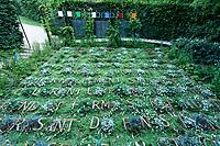 """France, Domaine de Chaumont-sur-Loire, Festival International des Jardins 2018 sur le thème """"Jardins de la pensée"""", """"le jardin de voyelles"""""""