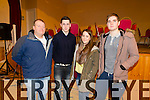 Pictured at the County Finals of Scor Sinsear held in Brosna on Saturday was L-R: Mike Hickey, Daniel Healy, Sorcha Hickey, Paul Clifford representing Croaghs.