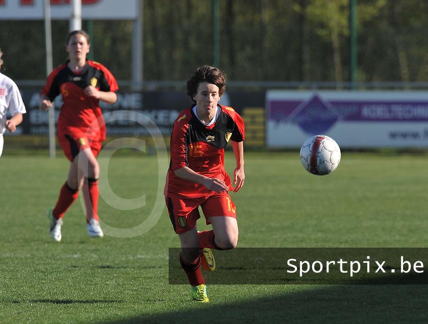 UEFA Women's Under 17 Championship - Second Qualifying round - group 1 : Belgium - England : .Johanna Koenig..foto DAVID CATRY / Vrouwenteam.be