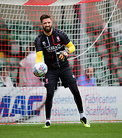 Lincoln City's Josh Vickers during the pre-match warm-up<br /> <br /> Photographer Chris Vaughan/CameraSport<br /> <br /> Football Pre-Season Friendly - Lincoln City v Sheffield Wednesday - Saturday July 13th 2019 - Sincil Bank - Lincoln<br /> <br /> World Copyright © 2019 CameraSport. All rights reserved. 43 Linden Ave. Countesthorpe. Leicester. England. LE8 5PG - Tel: +44 (0) 116 277 4147 - admin@camerasport.com - www.camerasport.com