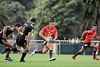 Yusuke KAJIMURA (梶村 祐介) in action during the Hurricanes Hinters v Wolfpack at Jerry Collins Stadium, Porirua, New Zealand on Friday 29 March 2019. <br /> Photo by Masanori Udagawa. <br /> www.photowellington.photoshelter.com