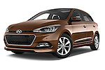 Stock pictures of low aggressive front three quarter view of 2015 Hyundai I20 Intro Edition 5 Door Hatchback Low Aggressive