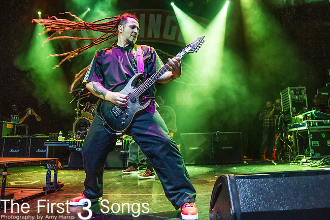 Zoltan Bathory of Five Finger Death Punch performs during the 2016 ShipRocked Cruise. ShipRocked set sail January 18-22, 2016, from Miami to Costa Maya, Mexico on the Norwegian Pearl.