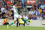 Sergi Roberto in action during La Liga game between FC Barcelona v Betis at Camp Nou