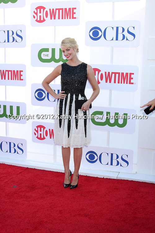 LOS ANGELES - JUL 29:  Beth Behrs arrives at the CBS, CW, and Showtime 2012 Summer TCA party at Beverly Hilton Hotel Adjacent Parking Lot on July 29, 2012 in Beverly Hills, CA