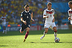 Yohan Cabaye (FRA), Toni Kroos (GER), JULY 4, 2014 - Football / Soccer : FIFA World Cup Brazil 2014 quarter-finals match between France 0-1 Germany at Estadio do Maracana in Rio de Janeiro, Brazil. (Photo by FAR EAST PRESS/AFLO)