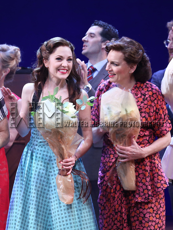 Corey Cott, Laura Osnes and Beth Leavel during the Broadway Opening Night Curtain Call Bows of 'Bandstand' at the Bernard B. Jacobs Theatre on 4/26/2017 in New York City.