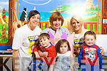 Pictured at the launch of a fundraiser to bring sick children to Lapland next December at Kerry General Hospital on Friday were Front: Bradley O'Brien, Tamikia O'Brien, Conor Lyne. Back from Left Sinead Prendergast, Angela Hickey (Ward manager) and Ursula O'Keeffe..