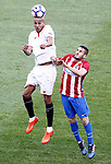 Atletico de Madrid's Koke Resurrecccion (r) and Sevilla FC's Steven N'Zonzi during La Liga match. March 19,2017. (ALTERPHOTOS/Acero)
