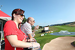 ISPS Handa Wales Open<br /> Guests enjoying the golf from the Waitrose marquee balcony alongside the 18th green on the Twenty Ten course.<br /> Celtic Manor Resort<br /> 21.09.14<br /> ©Steve Pope-SPORTINGWALES