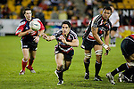 Chad Tuoro passes to his backline as Taiasina Tuifua watches. Air New Zealand Cup rugby game between Counties Manukau Steelers & Hawkes Bay, played at Mt Smart Stadium on the 23rd of August 2007. Hawkes Bay won 38 - 14.