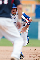 25 july 2010: Joris Bert of France runs during France 6-1 victory over Czech Republic, in day 3 of the 2010 European Championship Seniors, in Neuenburg, Germany.