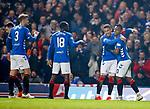 27.02.2019 Rangers v Dundee: Alfredo Morelos celebrates
