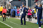 CHESTER, PA - MARCH 01: France head coach Olivier Echouafni. The England Women's National Team played the France Women's National Team as part of the She Believes Cup on March, 1, 2017, at Talen Engery Stadium in Chester, PA. The France won the game 2-1.