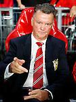Nederland, Eindhoven, 15 september 2015<br /> Champions League<br /> Seizoen 2015-2016<br /> PSV-Manchester United<br /> Louis van Gaal, trainer-coach van Manchester United