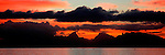 Sunset over Moorea, French Polynesia<br />
