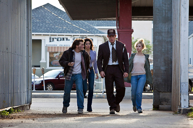 "Actors Emile Hirsch, Gina Gershon, Thomas Haden Church and Juno Temple in the feature film ""Killer Joe"" directed by William Friedkin."