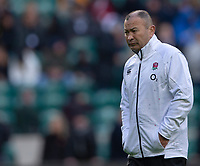England's Head Coach Eddie Jones<br /> <br /> Photographer Bob Bradford/CameraSport<br /> <br /> Quilter Internationals - England v South Africa - Saturday 3rd November 2018 - Twickenham Stadium - London<br /> <br /> World Copyright © 2018 CameraSport. All rights reserved. 43 Linden Ave. Countesthorpe. Leicester. England. LE8 5PG - Tel: +44 (0) 116 277 4147 - admin@camerasport.com - www.camerasport.com