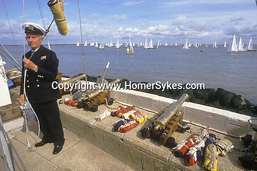 Cowes Regatta. All races are started from here when the small cannons are fired. Isle of Wight  The English Season published by Pavilon Books 1987