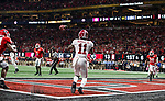 Alabama Crimson Tide wide receiver Henry Ruggs III (11) gets behind Georgia Bulldogs defensive back Malkom Parrish, left, to catch a touchdown pass in the third quarter of the NCAA College Football Playoff National Championship at Mercedes-Benz Stadium on January 8, 2018 in Atlanta. Alabama defeated Georgia 26-23 in overtime.  Photo by Mark Wallheiser/UPI