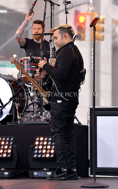 WWW.ACEPIXS.COM<br /> <br /> June 12 2015, New York City<br /> <br /> Pete Wentz of Rock band 'Fall Out Boy' performed live on 'The Today Show' on June 12 2015 in New York City<br /> <br /> By Line: Curtis Means/ACE Pictures<br /> <br /> <br /> ACE Pictures, Inc.<br /> tel: 646 769 0430<br /> Email: info@acepixs.com<br /> www.acepixs.com