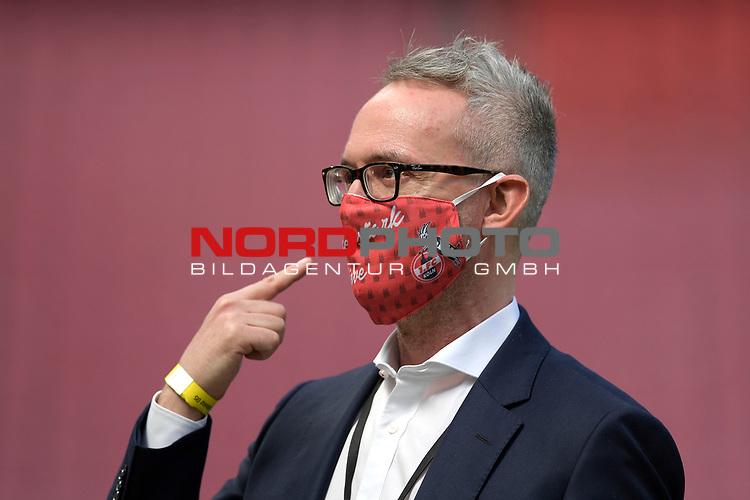 nph00351: Alexander WEHRLE (Geschaeftsfuehrer) mit<br /> Mundschutz,Maske.<br /> Sport: Fussball: 1. Bundesliga: Saison 19/20: 26.Spieltag: 1.FC KOELN-FSV MAINZ 05,17.05.2020.<br /> Foto: Anke Waelischmiller/SVEN SIMON/POOL / via Meuter/nordphoto<br /> <br /> Nur für journalistische Zwecke! Only for editorial use!<br /> Gemäß den Vorgaben der DFL Deutsche Fußball Liga ist es untersagt, in dem Stadion und/oder vom Spiel angefertigte Fotoaufnahmen in Form von Sequenzbildern und/oder videoähnlichen Fotostrecken zu verwerten bzw. verwerten zu lassen. DFL regulations prohibit any use of photographs as image sequences and/or quasi-video.