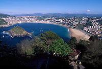 Spanien, Baskenland (Euskadi) , Blick vom Igeldoberg auf San Sebastissn (Donostia)