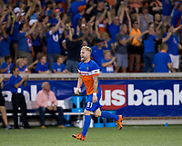 Cincinnati, OH - Tuesday August 15, 2017: Sem de Wit during a 2017 U.S. Open Cup game between FC Cincinnati vs New York Red Bulls at Nippert Stadium.