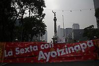 M&eacute;xico DF 26/Octubre/2015.<br /> A Un A&ntilde;o y un Mes de la desaparici&oacute;n forzada de los 43 J&oacute;venes Estudiantes de la Escuela Normal Rural &ldquo;Ra&uacute;l Isidro Burgos&rdquo; de Ayotzinapa Guerrero. <br /> Padres y Madres de los j&oacute;venes desaparecidos encabezaron una marcha en la Ciudad de M&eacute;xico, que parti&oacute; desde el &Aacute;ngel de la Independencia y culmino en el Hemiciclo a Ju&aacute;rez, donde realizaron un mitin informativo. <br /> Nuevamente los familiares de los 43 estudiantes, dejaron en claro que su lucha seguir&aacute; a lo largo de la Rep&uacute;blica Mexicana, para exigir justicia y castigo por la desaparici&oacute;n de sus hijos.
