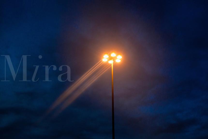 Street lamp at dusk.
