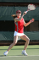 STANFORD, CA - FEBRUARY 19:  Carolyn McVeigh of the Stanford Cardinal during Stanford's 5-2 win over the St. Mary's Gaels on February 19, 2009 at the Taube Family Tennis Stadium in Stanford, California.