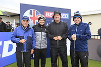Tyrrell Hatton (ENG) with team during the Hero Pro-am at the Betfred British Masters, Hillside Golf Club, Lancashire, England. 08/05/2019.<br /> Picture Fran Caffrey / Golffile.ie<br /> <br /> All photo usage must carry mandatory copyright credit (© Golffile | Fran Caffrey)