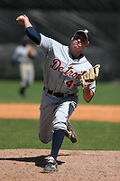 Detroit Tigers minor leaguer Phil Napolitan during Spring Training at the Chain of Lakes Complex on March 17, 2007 in Winter Haven, Florida.  (Mike Janes/Four Seam Images)