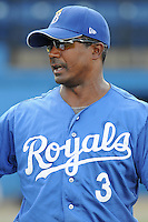 July 22, 2009: Manager Nelson Liriano (3) of the Burlington Royals, rookie Appalachian League affiliate of the Kansas City Royals, prior to a game at Burlington Athletic Stadium in Burlington, N.C. Photo by: Tom Priddy/Four Seam Images