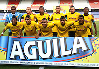 BARRANQUIILLA -COLOMBIA-19-03-2015. Jugadores de Barranquilla FC posan para una foto previo al encuentro con Atlético Junior por la fecha 3 de la Copa Águila 2015 jugado en el estadio Metropolitano Roberto Meléndez de la ciudad de Barranquilla./ Players of Barranquilla FC pose toa photo prior the match against Atletico Junior for the third date of the Aguila Cup 2015 played at Metropolitano Roberto Melendez stadium in Barranquilla city.  Photo: VizzorImage/Alfonso Cervantes/STR