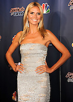 NEW YORK CITY, NY, USA - AUGUST 27: Model Heidi Klum arrives at the 'America's Got Talent' Post-Show Red Carpet held at Radio City Music Hall on August 27, 2014 in New York City, New York, United States. (Photo by Celebrity Monitor)
