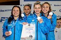 Youth Girls' 4x100m Medley<br /> ITALY <br /> CIRCI Roberta VAVALLE Giorgia ASPRISSI Karen 2002 <br /> COCCONCELLI Costanza Silver Medal <br /> Lignano Sabbiadoro 06-05-2017 Ge.Tur Complex <br /> Energy Standard Cup 2017 Nuoto<br /> Photo Andrea Staccioli/Deepbluemedia/Insidefoto