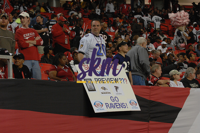 In the first Thursday night game of the season the Ravens travel to Atlanta to face the Falcons. The Falcons defeated the Ravens 26 -21 to improve to 7 - 2.