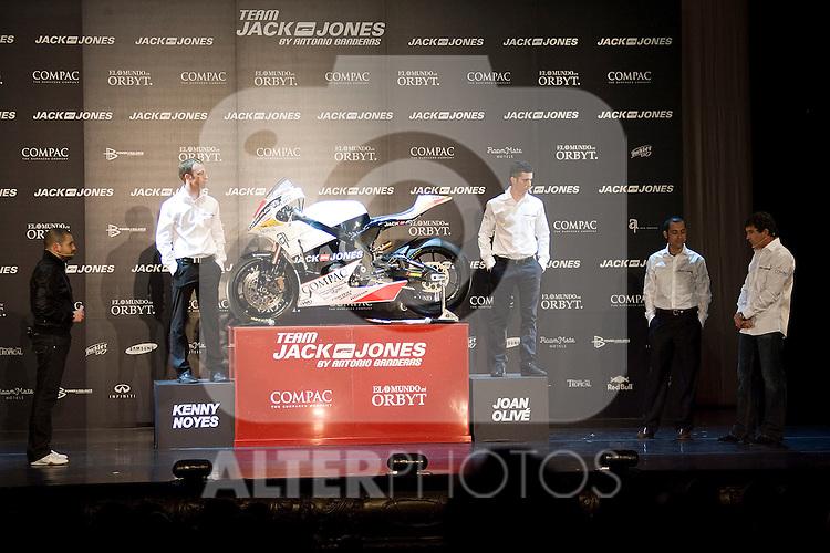 MADRID (05/04/2010).- Presentation of Team Jack&Jones by Antonio Banderas Racing at Teatro Compac Gran Via...Photo: Cesar Cebolla / ALFAQUI.