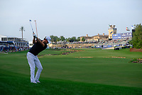 Thomas Pieters (BEL) on the 18th fairway during the 2nd round of the DP World Tour Championship, Jumeirah Golf Estates, Dubai, United Arab Emirates. 16/11/2018<br /> Picture: Golffile | Fran Caffrey<br /> <br /> <br /> All photo usage must carry mandatory copyright credit (© Golffile | Fran Caffrey)