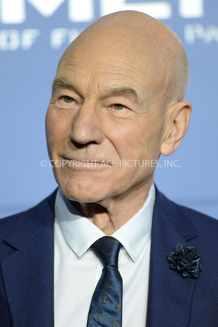 WWW.ACEPIXS.COM<br /> May 10, 2014 New York City<br /> <br /> Patrick Stewart attending the 'X-Men: Days Of Future Past' world premiere at Jacob Javits Center onMay 10, 2014 in New York City.<br /> <br /> Please byline: Kristin Callahan<br /> <br /> ACEPIXS.COM<br /> <br /> Tel: (212) 243 8787 or (646) 769 0430<br /> e-mail: info@acepixs.com<br /> web: http://www.acepixs.com
