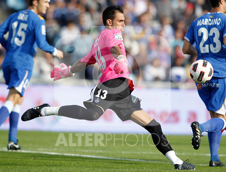 Getafe's Jordi Codina during La Liga match. October 24, 2010. (ALTERPHOTOS/Alvaro Hernandez)